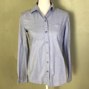 LOFT Light Blue Button Down Shirt Size XS